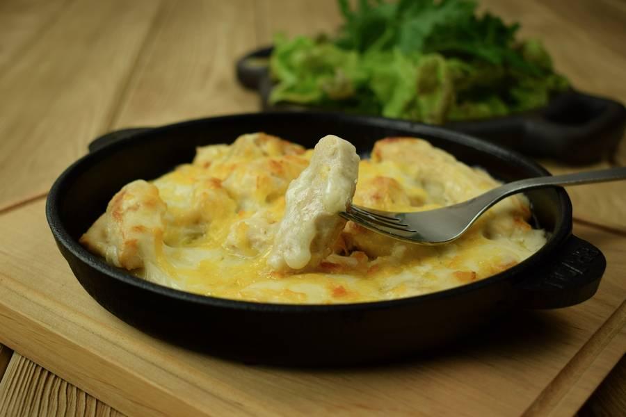 Жаркое из курицы с картофелем, в сметанном соусе