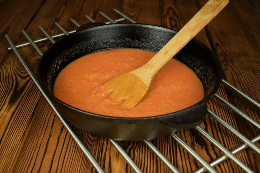 Приготовление говядины в томатном соусе шаг 5