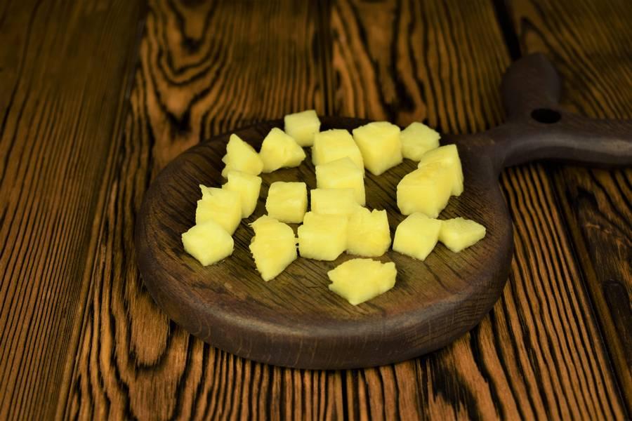 Приготовление домашнего йогурта с ананасом шаг 2