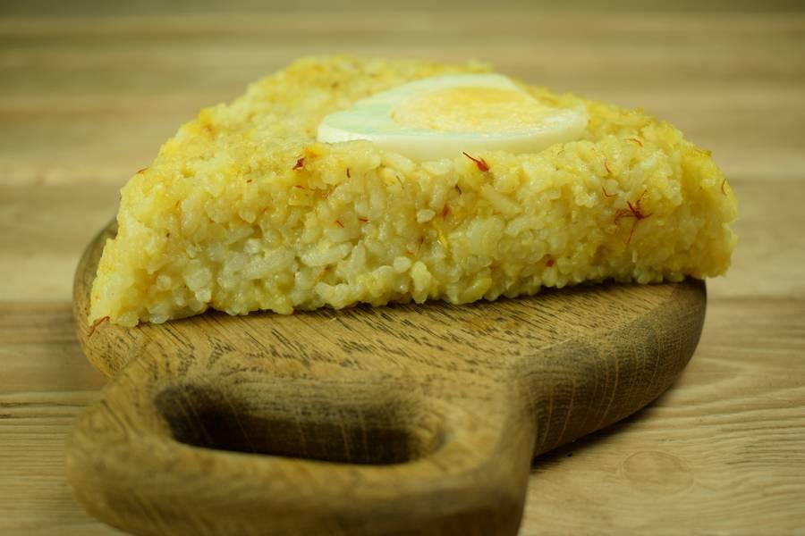 Рисовая запеканка с яйцом