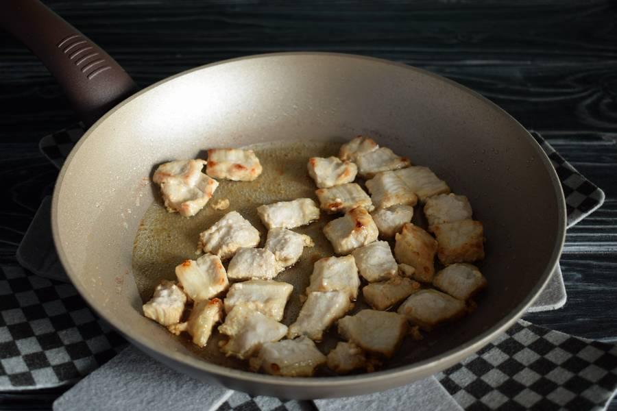 Приготовление булгура со свининой шаг 2