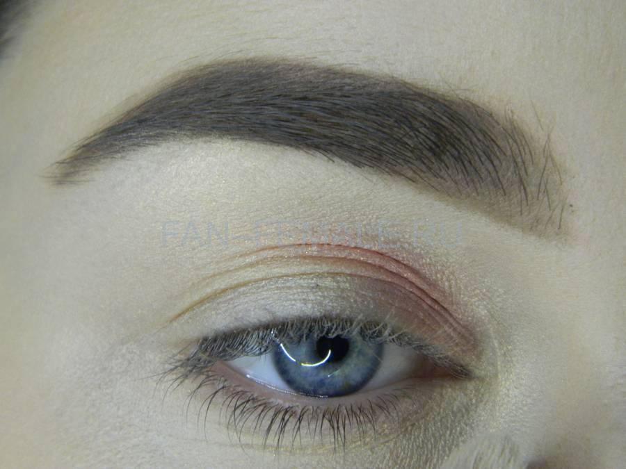 Выполнение легкого макияжа с розовым акцентом шаг 4