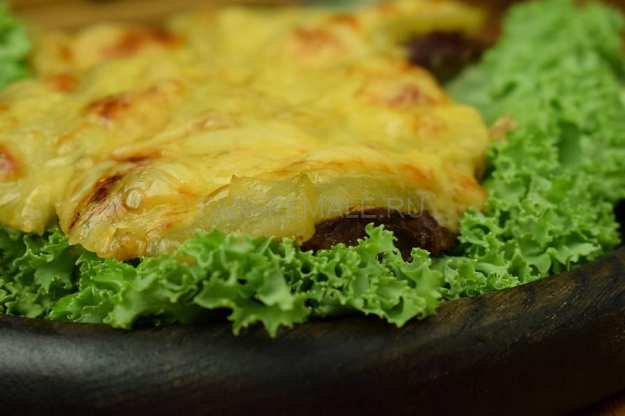 Говядина с киви под сыром