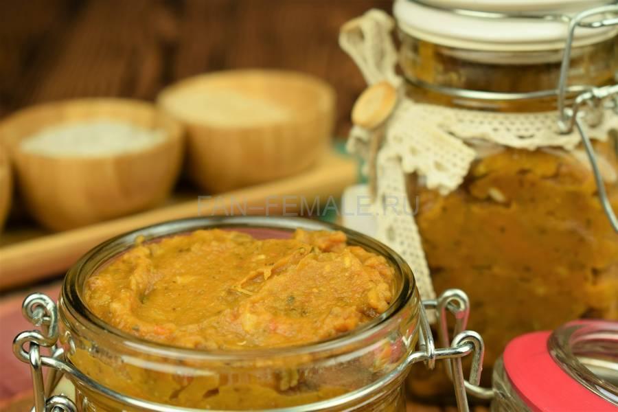 Острый соус из помидоров, кабачков, баклажанов