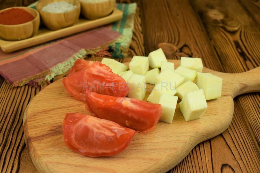 Приготовление овощного острого соуса шаг 2