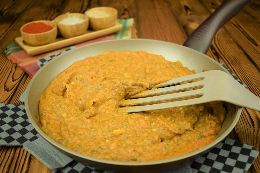 Приготовление овощного острого соуса шаг 8