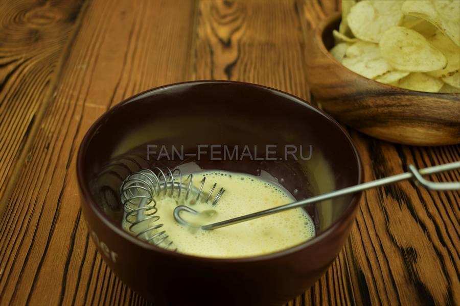 Приготовление трески панированной картофельными чипсами шаг 4