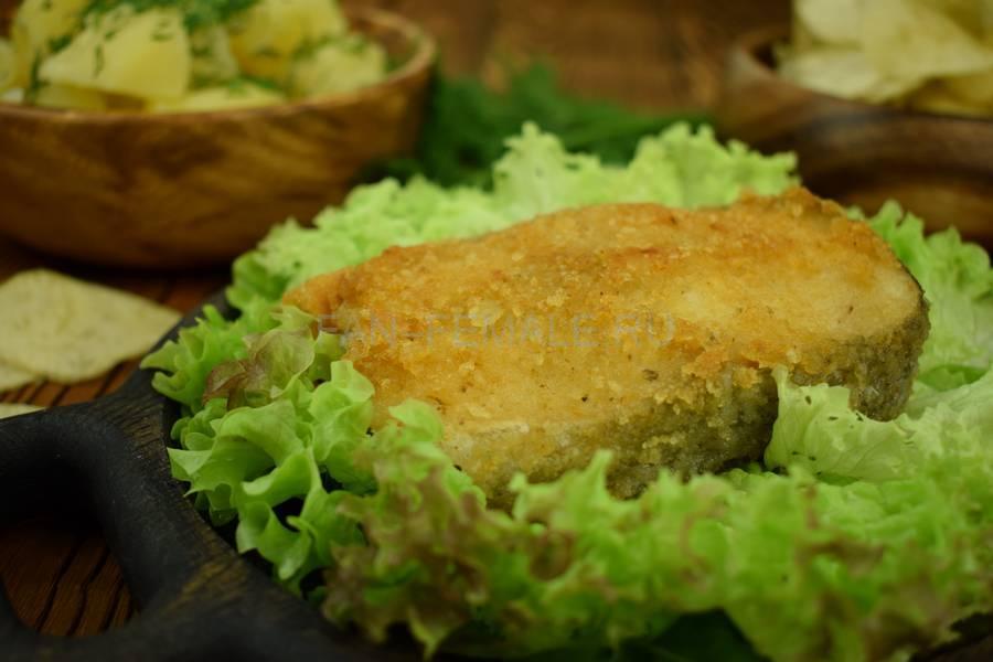 Треска в картофельно-чипсовой панировке
