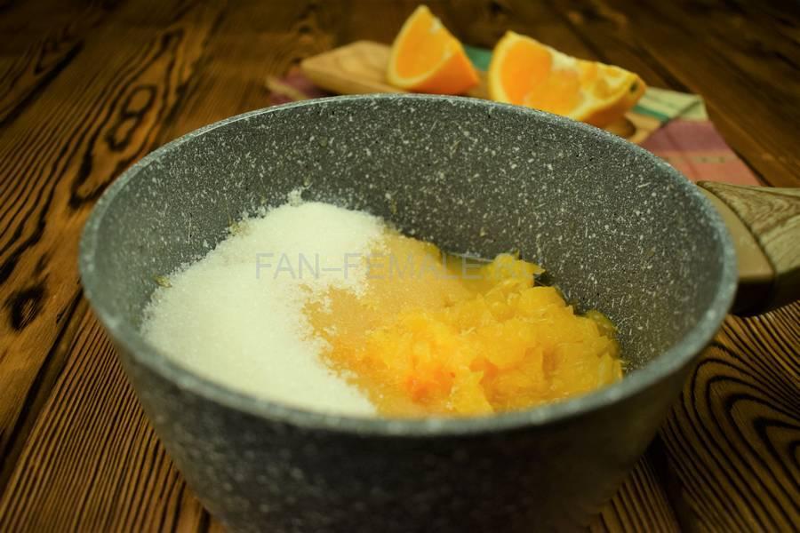 Приготовление домашнего йогурта с апельсином шаг 2