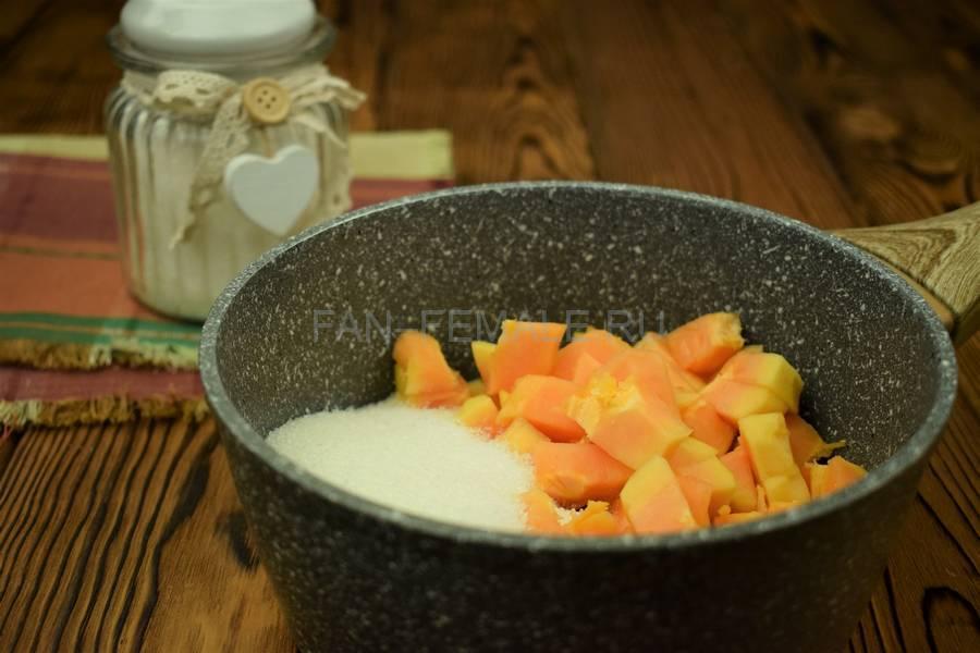 Приготовление домашнего йогурта с папайей шаг 2