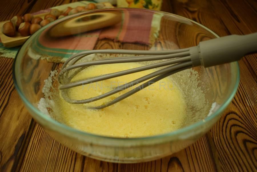 Приготовление песочного печенья с фундуком шаг 2