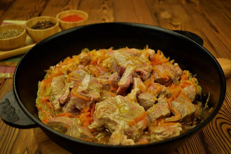 Приготовление седла барашка с красным рисом шаг 6