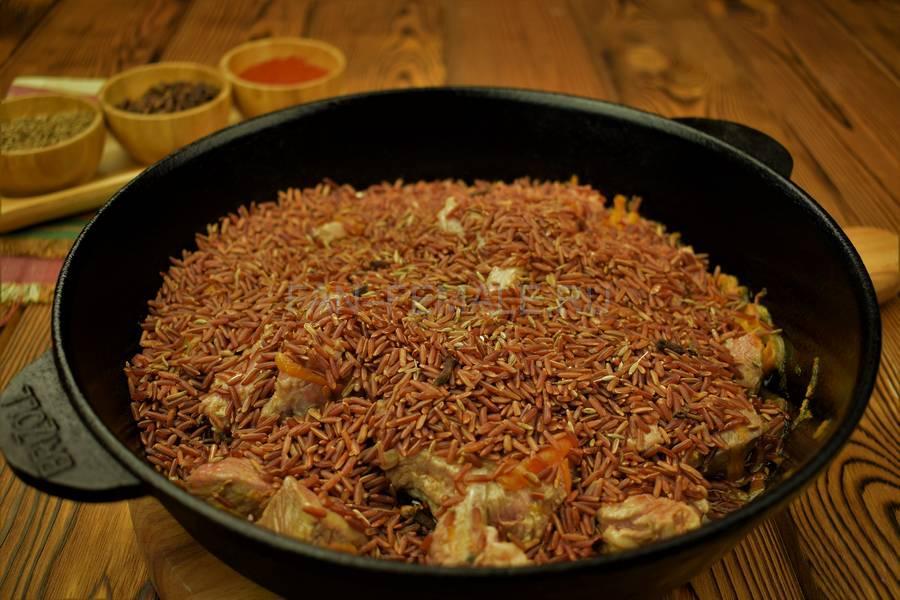 Приготовление седла барашка с красным рисом шаг 7