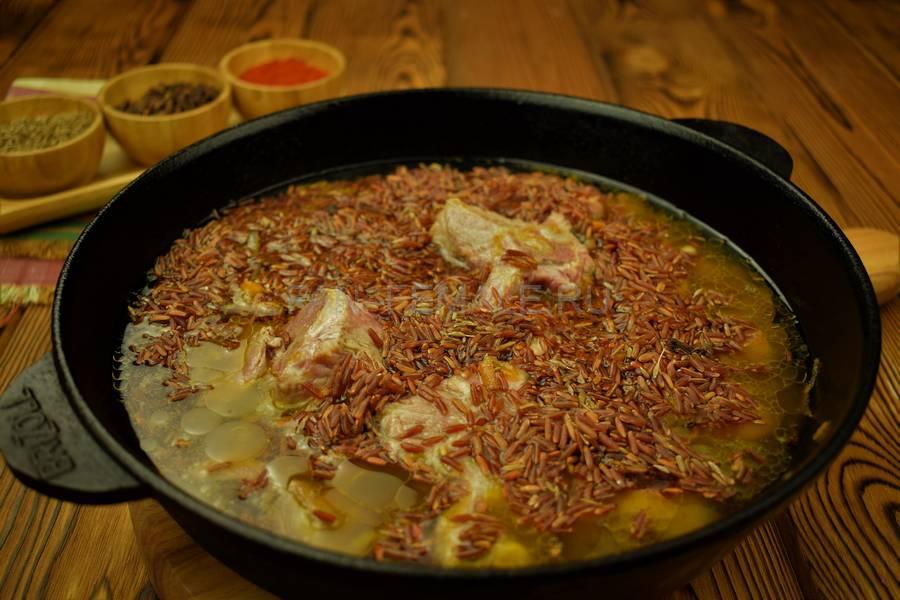 Приготовление седла барашка с красным рисом шаг 8