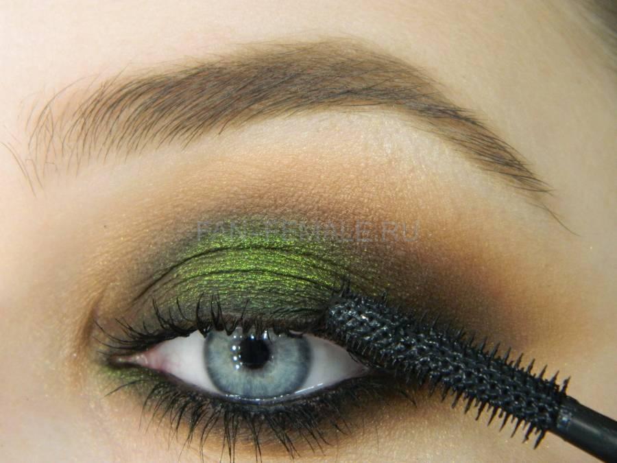Выполнение зеленого смоки для светлых глаз шаг 18