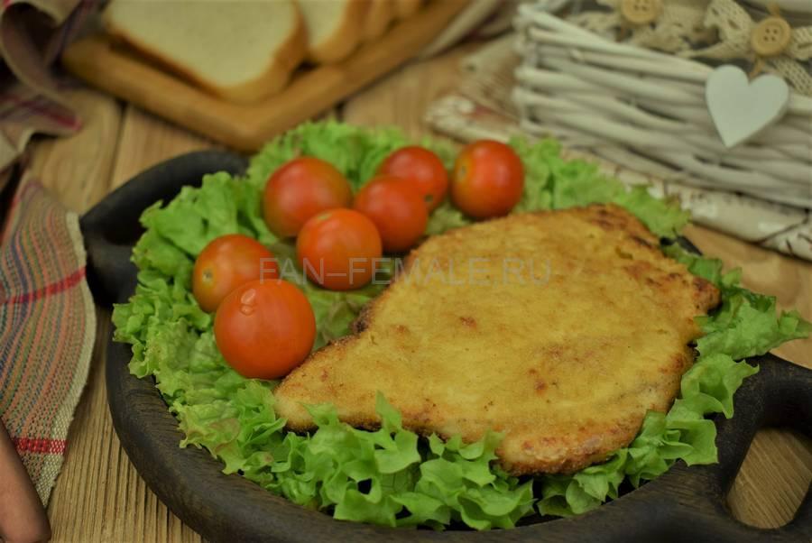 Филе индейки в горчично-кукурузной панировке