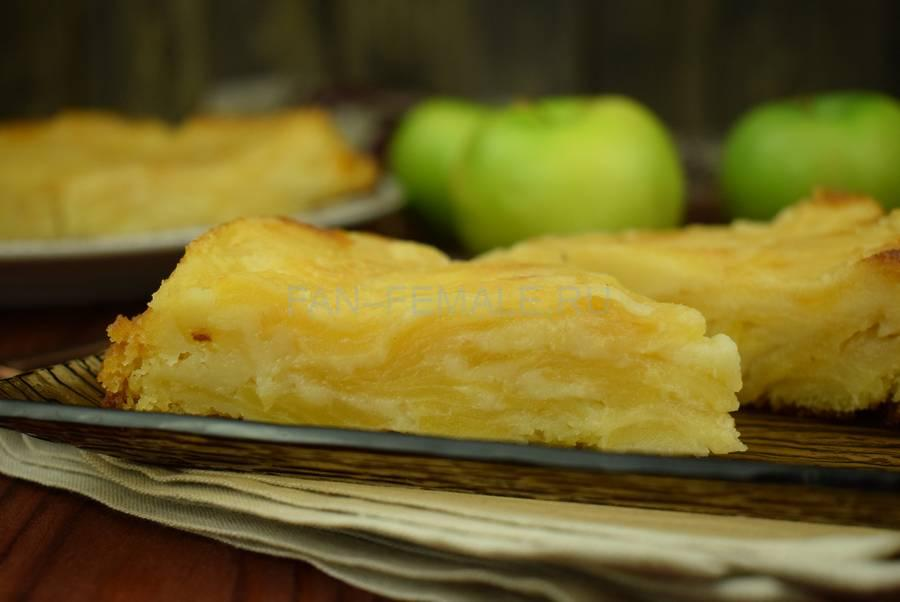 Наливной яблочный пирог