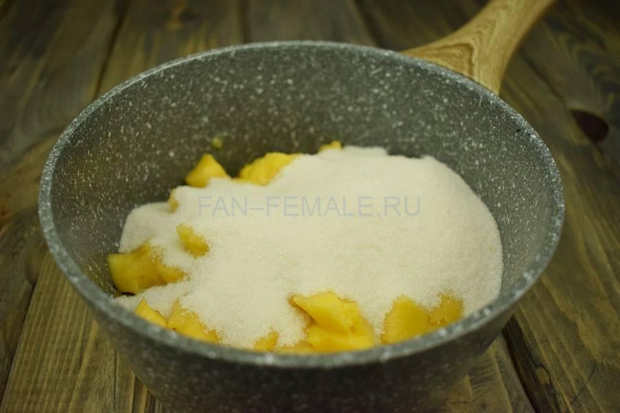 Приготовление домашнего йогурта с манго, шаг 2