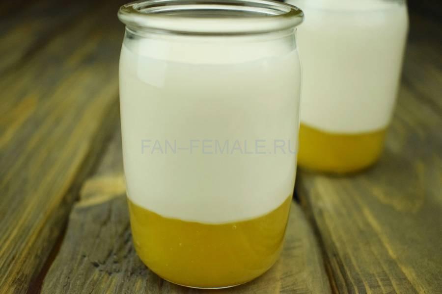 Приготовление домашнего йогурта с манго, шаг 6