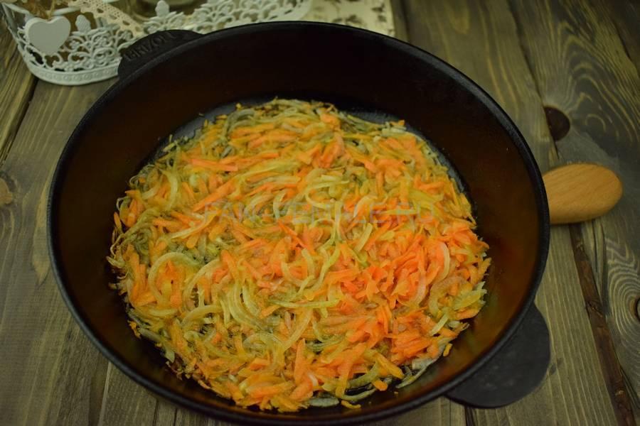 Приготовление тонкой вермишели с овощами и свининой, шаг 7