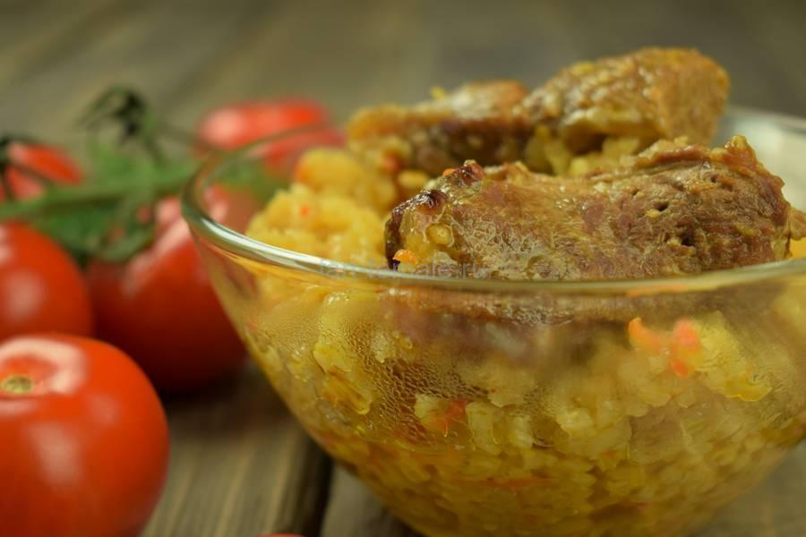 Баранья корейка с рисом