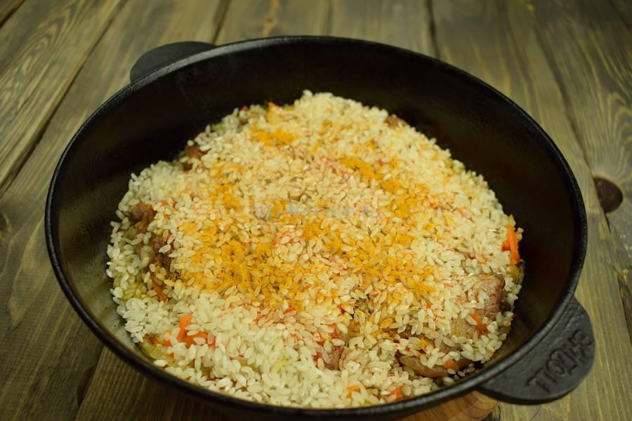 Приготовление бараньей корейки с рисом, шаг 6