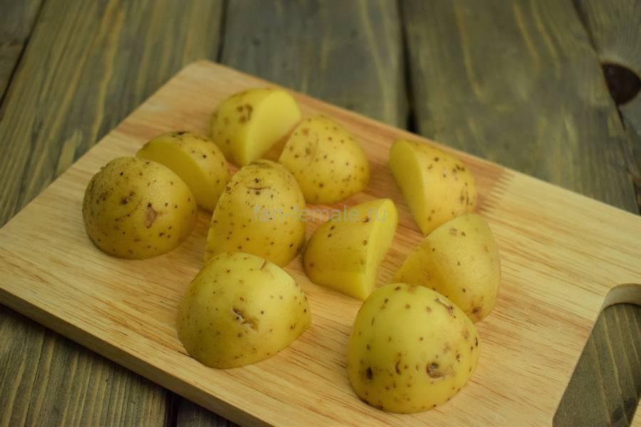 Приготовление картофельного супа на говяжьих ребрах, шаг 4