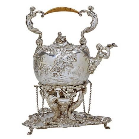 Чайник для английского чаепития серебряный