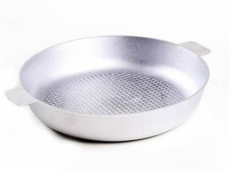 Алюминиевая сковорода с тисненым дном
