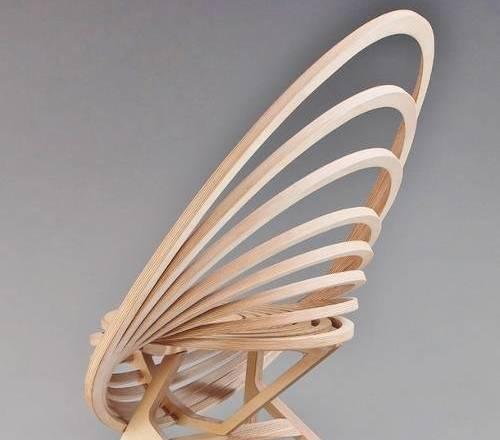 Кресло из фанерных колец