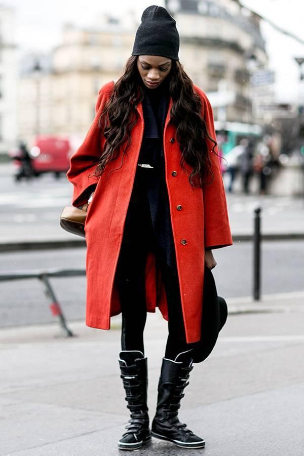 Модная вязаная шапка 2016