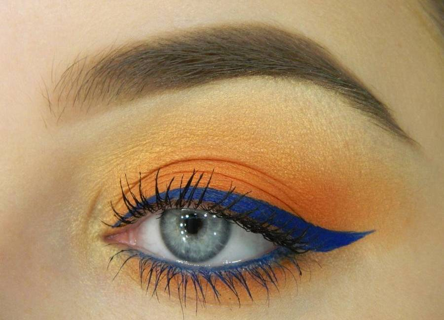 Яркий летний макияж глаз