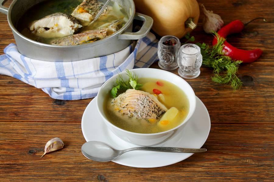 Рыбный суп с тыквой