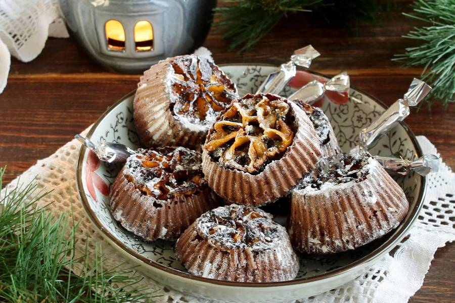 Пряные кексы с мандаринами
