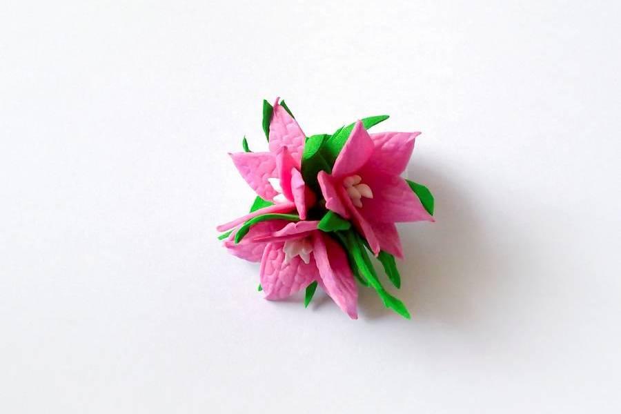 Резинка для волос с яркими цветами из фоамирана