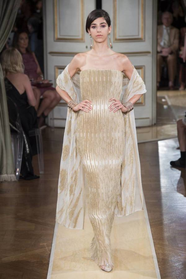 Коллекция Armani Prive осень-зима 2018–2019 на Неделе высокой моды в Париже выход 9