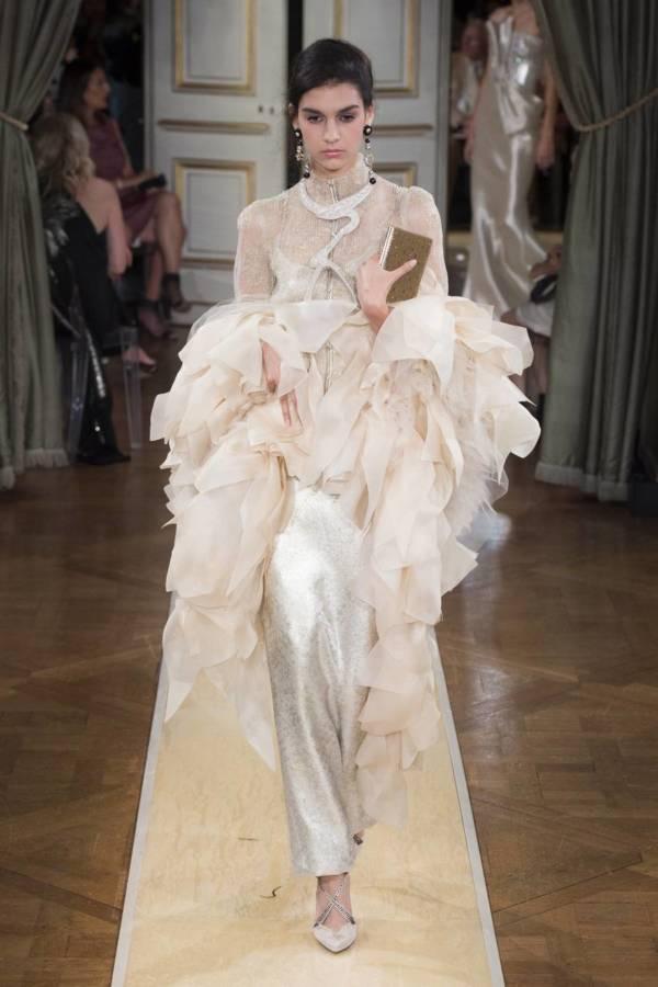 Коллекция Armani Prive осень-зима 2018–2019 на Неделе высокой моды в Париже выход 91