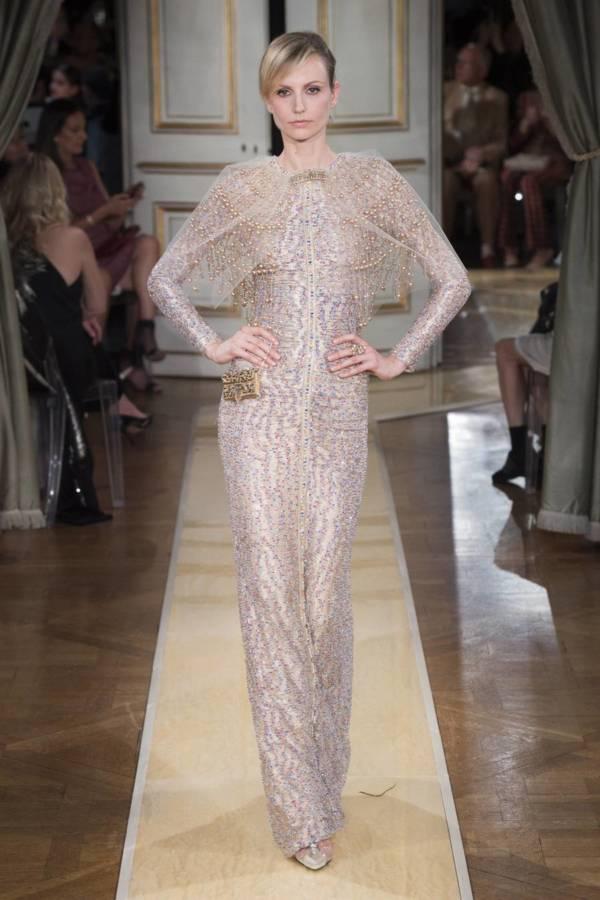 Коллекция Armani Prive осень-зима 2018–2019 на Неделе высокой моды в Париже выход 96